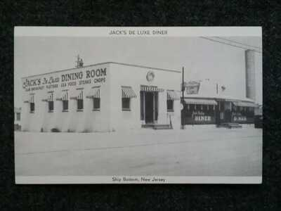 Ship Bottom New Jersey old postcard Jack's De Luxe Diner Long Beach