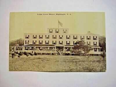 CEDAR GROVE HOUSE  HIGHLANDS  N.J. Real Photo RPPC POSTCARD