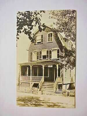THE GRAND VIEW HOUSE HIGHLANDS  N.J. Real Photo RPPC POSTCARD