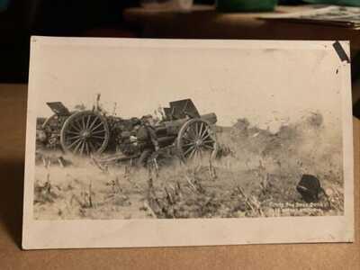 Fort Dupont Delaware Military Firing Siege Guns Real Photo Vintage Postcard RPPC