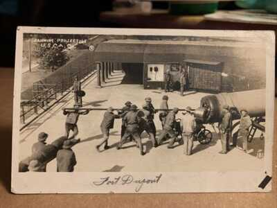 Fort Dupont Delaware Military Ramming Projectile US Coast Artillery RPPC