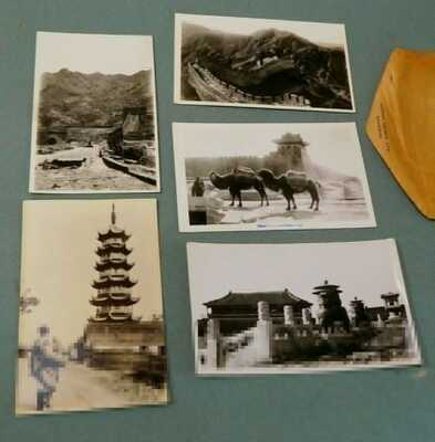13 +1 RPPC Postcards Shanghai China Great Wall Willow Pattern Tea House ++ 1930s