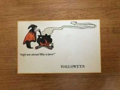 Rare Unused Raphael Tuck & Sons Halloween Postcard Series No. 830 Witch Brew