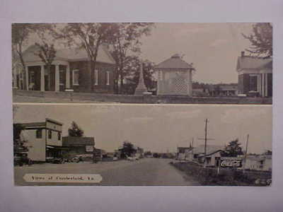 VA, CUMBERLAND Multiview W.E. BURGESS SCOTTSVILLE Postcard