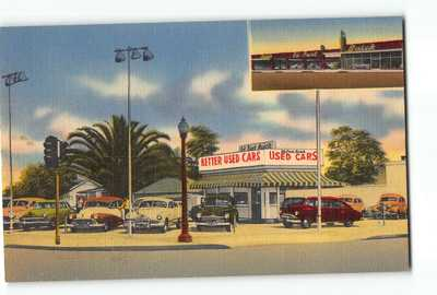 El Monte California CA Postcard 1930-50 Ed Fant Buick New Car Sales and Service