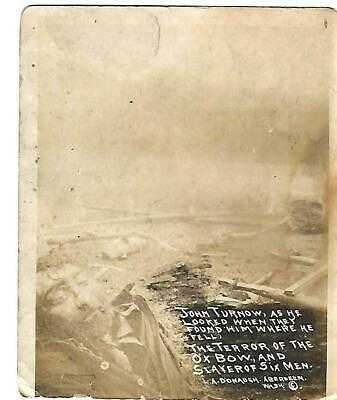 RARE JOHN TORNOW WILD MAN OF THE WYNOOCHEE REAL PHOTO POSTCARD
