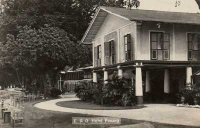 NO RESERVE 1920s E & O Hotel Penang Malaya Malaysia Real Photo Postcard