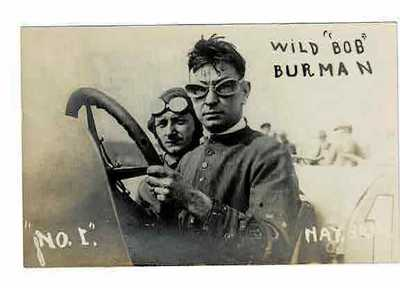 Antique 1911 Indy 500 Driver Wild Bob Burman Daytona Beach RPPC Post Card