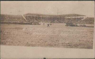 1906 Winnipeg Maroons Baseball Stadium Happyland Park Real Photo Postcard Opener