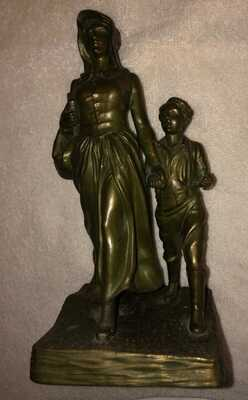 Jennings Bros Oklahoma Pioneer Woman Replica Statue,signed by Bryant Baker,vntg