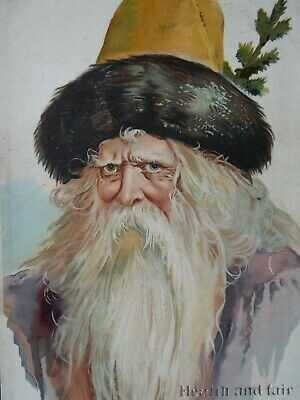 Rare Early 1900 Exceptional Santa Portrait Schaefer & Scheibe Berlin Germany