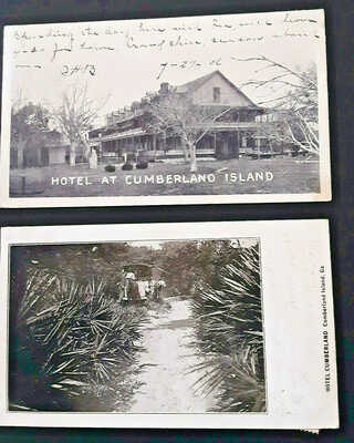 RPPC 1906 Hotel at Cumberland Island, Georgia - 2 Cards