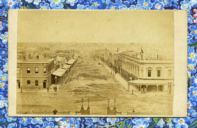 GREAT 1860s VIEW IN COLONIAL MELBOURNE AUSTRALIA CDV BY PHOTOGRAPHER C NETTLETON