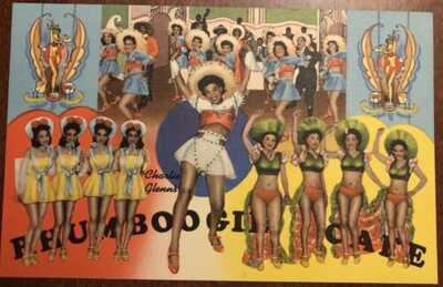 Charlie Glenn's RHUMBOOGIE CAFE Linen Postcard, 1942-1947