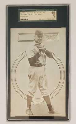 "1907 J.L. & C.H. Seddon Postcard ""HUSKY JACK"" CRONIN - Providence Grays Baseball"