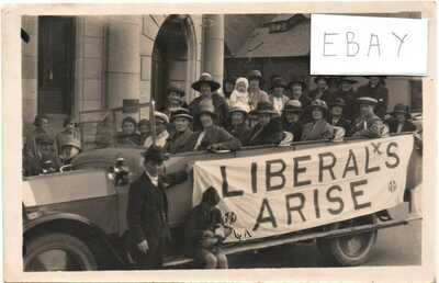 TEIGNMOUTH   ELECTION  CAMPAIGN  CHARABANC  NR ROYAL LIBRARY   DEVON RP