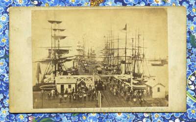 1860s ABORIGINAL MEN? SAILORS? MERCHANTS? PORT GEELONG VICTORIA AUSTRALIA CDV