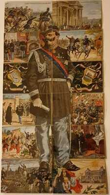 Victor Emmanuel II - Scarce Compl. set of 12 Installment Postcards c.1911 unused