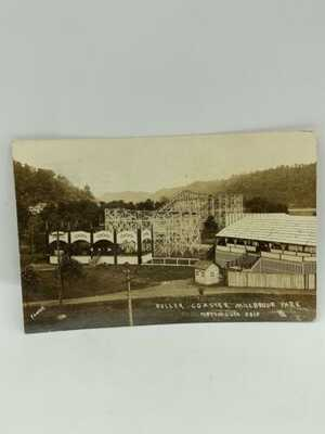 RPPC 1910 Wooden Roller Coaster Millbrook Park Portsmouth Ohio Postcard