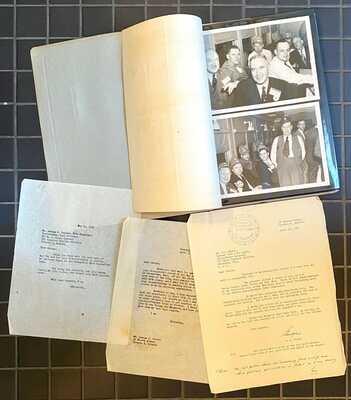 Vtg 1952 Hanna Coal Co Georgetown Mine Tour Photos+Letters Pennsylvania Railroad