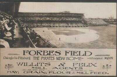 1909 Forbes Field Pittsburgh Pirates Baseball Stadium RP Postcard Willets Felix
