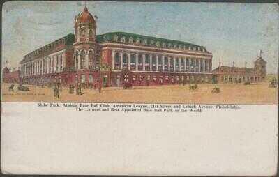 1910 Philadelphia Athletics Baseball Stadium Postcard Shibe Park by Taylor