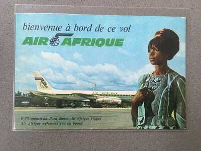 Air Afrique DC-8 airline issued card