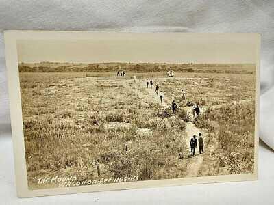 1920 Waconda Springs The Mound at Waconda Springs Kansas RPPC