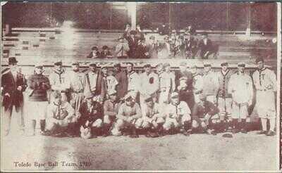 Vintage 1910 Toledo Mud Hens Baseball Team Postcard Postmarked 1910