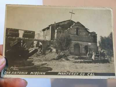 Antique 1906 era Postcard, San Antonio Mission, Monterey County CA Butler Photo