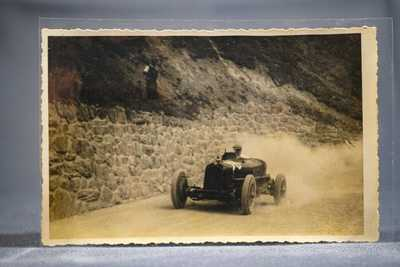 Historic Real Photo Postcard #98 Alfa Romeo Monza Race Car, Targa Florio Racing