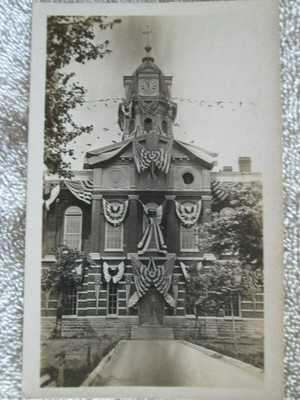 Antique Courthouse, Owensboro, Kentucky July 4 Flags Real Photo Postcard