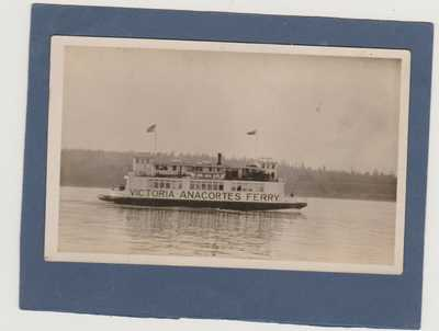 VINTAGE REAL PHOTO-EARLY 1900'S-FERRY BOAT-VICTORIA B.C. TO ANACORTES WASHINGTON