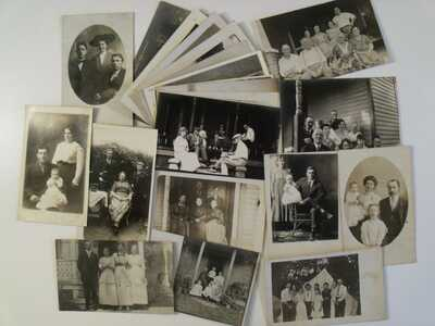 EARLY RPPC FAMILY & GROUPS! AND AS MENTIONED BELOW BY EBAY ITEM #S REAL PHOTO k