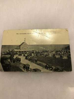 Rare Rehoboth Beach Delaware  Automobile Crowd  Model T Ford 1914 Mail Postcard
