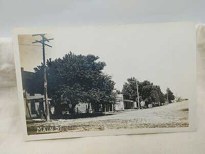 1900's Luray Kansas Main Street RPPC y Meiswanger of Osborne