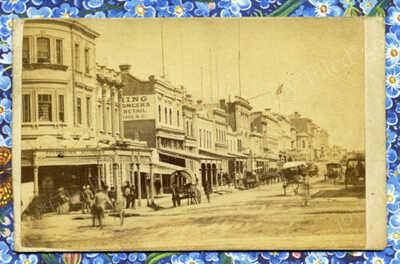 RARE 1860s COLONIAL VIEW IN MELBOURNE AUSTRALIA CDV BY PHOTOGRAPHER C NETTLETON