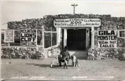 Rare Original Two Guns Station, AZ Route 66 Real Photo (RPPC) Postcard