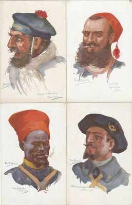 G Guerre 1870  Propaganda 10 CP LITHOS ALLEMANDE COMBATS GRUSS AUS 1900
