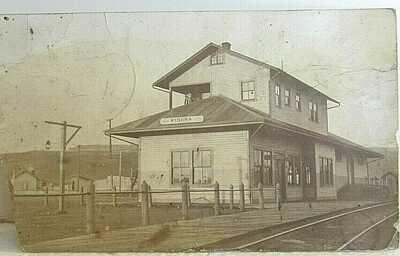 WINONA  WASHINGTON (WA) RAILROAD STATION DEPOT REAL PHOTO RPPC 1912 posted