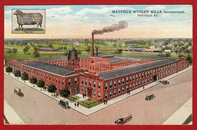 Mayfield, KY 1917 Vintage PPC - Mayfield Woolen Mills, Incorporated