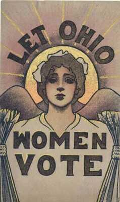 Suffragette Let Ohio Women Vote Sufferage Postcard Original Rare