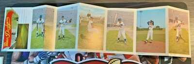 1959 Los Angeles Dodgers Postcard Baseball Cards Fold Out Intact Koufax Snider