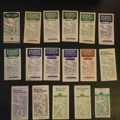Washington State Ferry schedules.  17 WSF FERRY SCHEDULES Used condition