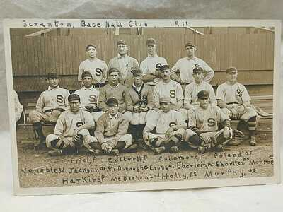 1911 Scranton Pennsylvania Scranton Miners NY State League Minor League BB RPPC