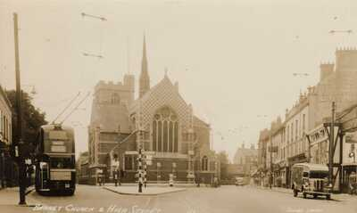 BARNET Church & High Street Bus No 609 Vehicles Shops RP # 43 by Cowings Library