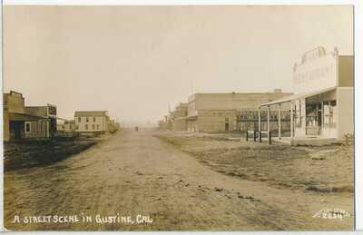 Gustine, Merced County, CA. Real Photo RPPC postcard 1910