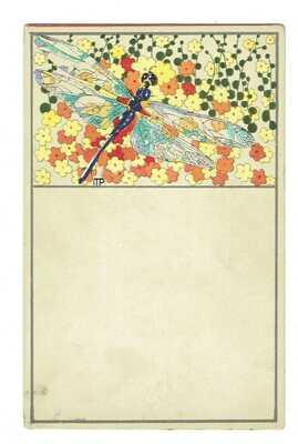 Wiener Werkstätte Postcard N 550 Postekarte  With the artist's fingerprint!