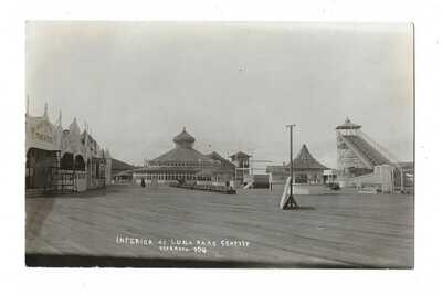INTERIOR OF LUNA PARK SEATTLE POSTCARD, O.T. FAASCH - 304, REAL PHOTO