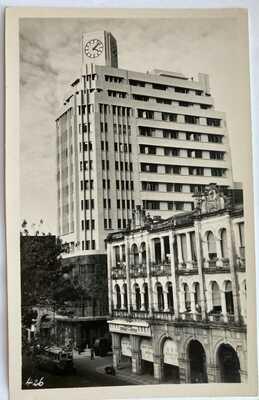 Hong Kong Real Photo Postcard Telephone House Bus Cameron Road Kowloon 1950s